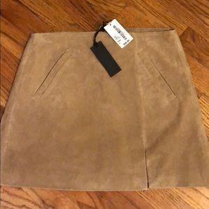 BLANK NYC camel skirt